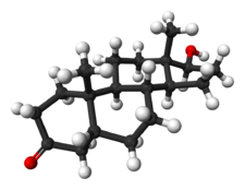 A Ball and Stick Model of Dihydrotestosterone - 3D